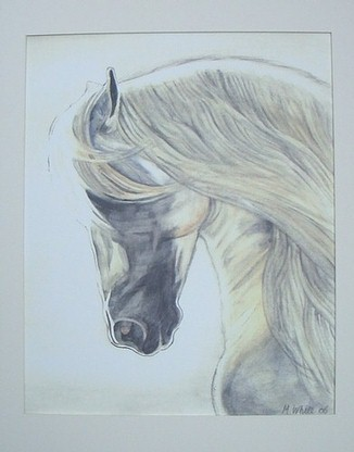 Cream Horse Mounted Final
