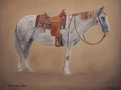 Western Horse - Painting