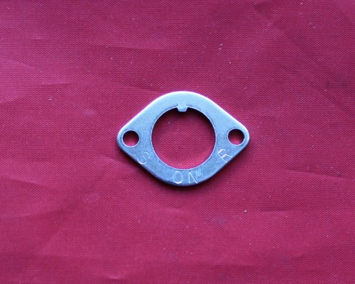 9. Fuel Tap Cover Plate - TL125K & Early TL125S