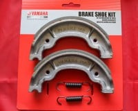 13 & 14. OEM Rear Brake Shoes & Springs - TY250 Twinshock