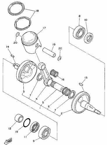 Ty175 Crank Shaft Piston Parts