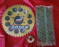 Chain & Sprocket Kit - TY250 Twinshock - 43 Tooth Flat Rear