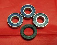 4, 5 & 6. Rear Wheel Bearing & Seal Kit - XT225 Serow - Rear Drum Brake Models