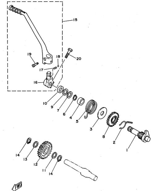 Kickstart Parts - XT225 Serow