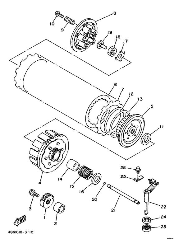 Clutch Parts - TY250Z