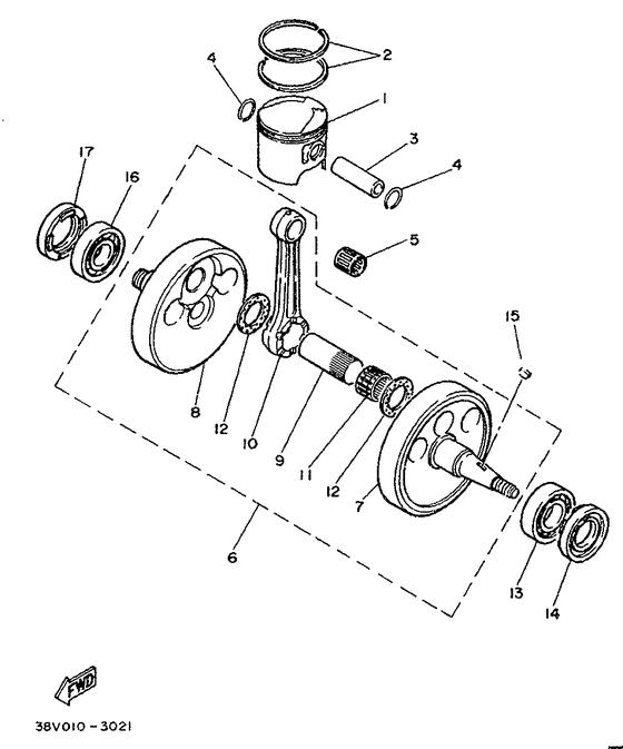 TY250Z Crankshaft & Piston