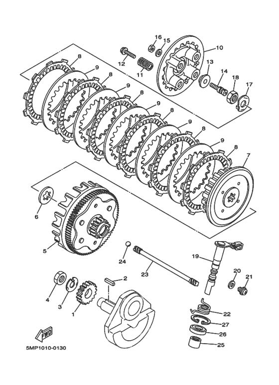 Clutch Parts - XT225