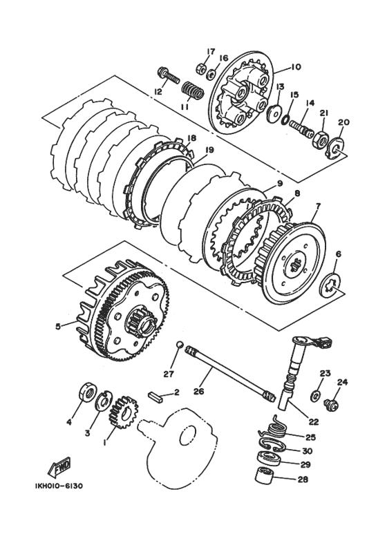 Clutch Parts - XT225 to1988