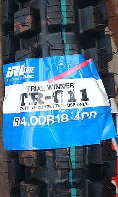 IRC Rear Tyre