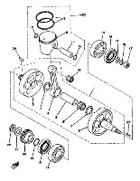Piston, Crankshaft, Seals & Bearings