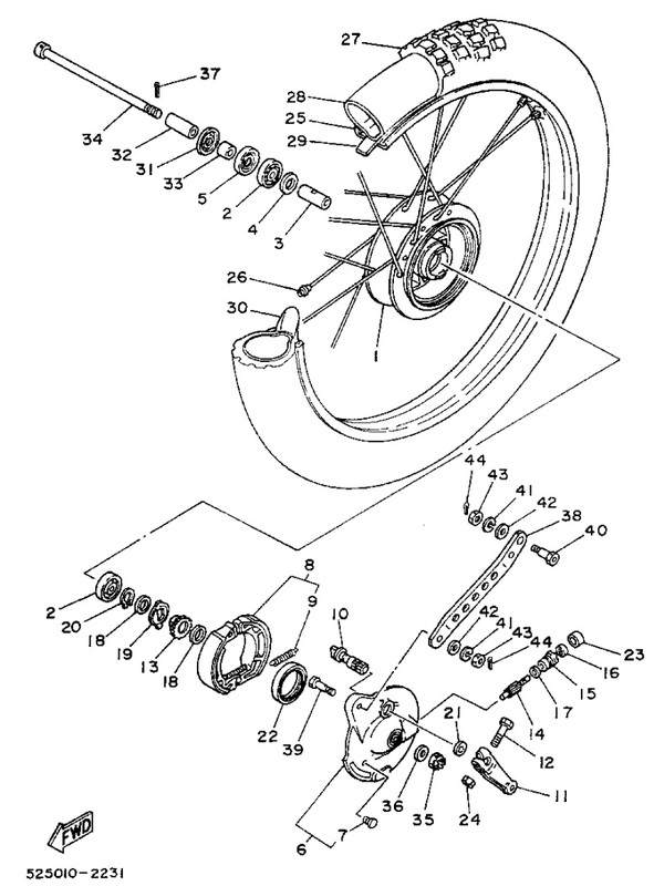 TY175 Front Wheel