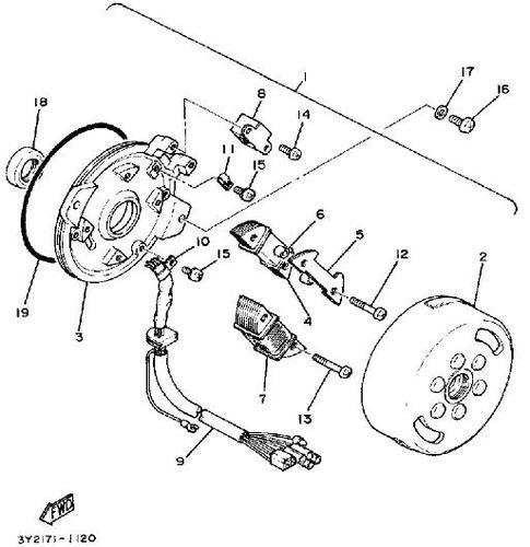magneto car engine diagram