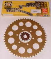 Chain & Sprocket Kit - 51t Rear - TY125 & TY175