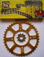 Full Chain & Sprocket Kit - TY350 & TY250 Monoshock