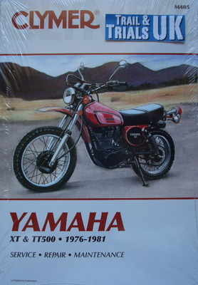 Clymer Yamaha XT500 & TT500 Workshop Manual