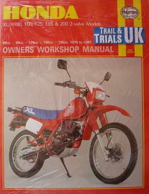 Haynes Honda Small Capacity XL & XR Workshop Manual