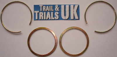Front Fork Seal Circlip & Washer Kit - DT250