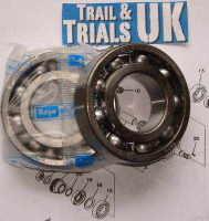 13. Crankshaft Main Bearings - 1 pair - TY250 Twinshock