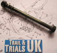 3/5/6 & 8. Upper Rear Engine Mounting Bolt - TY125 & TY175
