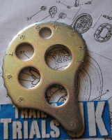 36. Rear Chain Adjuster Snail Cam - Right- XT250