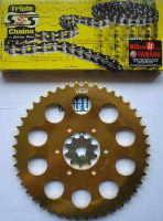 1. Chain & Sprocket Kit - 44t Dished Rear- TY250 Twinshock