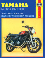 Haynes Yamaha XS750 & XS850 Triples Workshop Manual