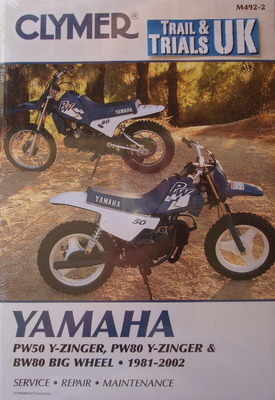 clymer yamaha pw50 pw80 bw80 workshop manual rh tytrials co uk 1980 Yamaha PW80 White & Blue yamaha pw80 manual free download