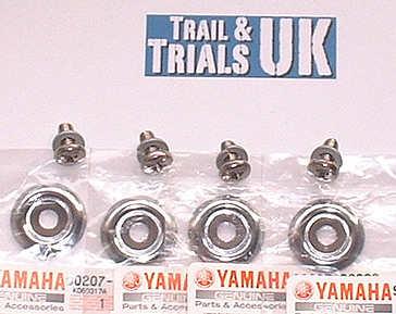 20 - 22. Rear Shock Washer Kit - TY250 Twinshock