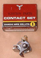 9. Contact Breaker Points TY250 Twinshock
