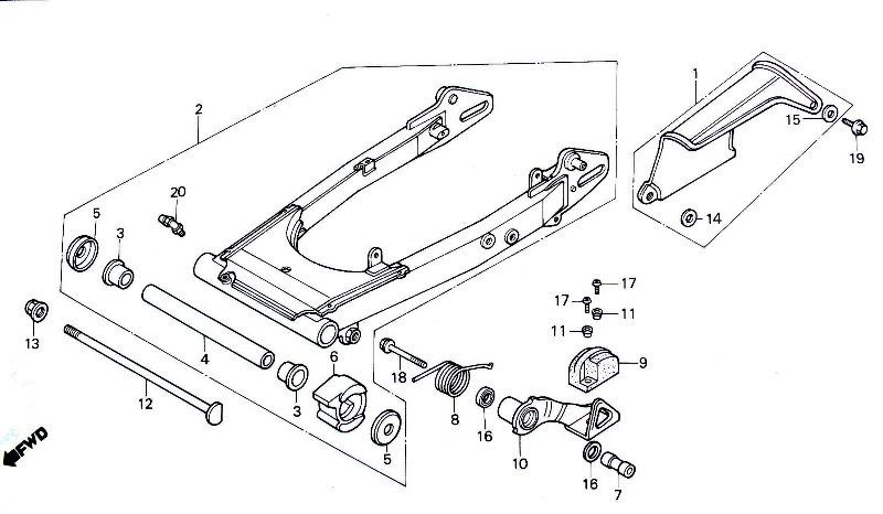 31. swinging arm & tensioner