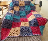 Crochet Blanket from Handspun yarn