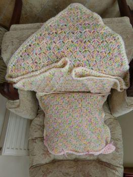 Hand crocheted items from Acrylic yarn