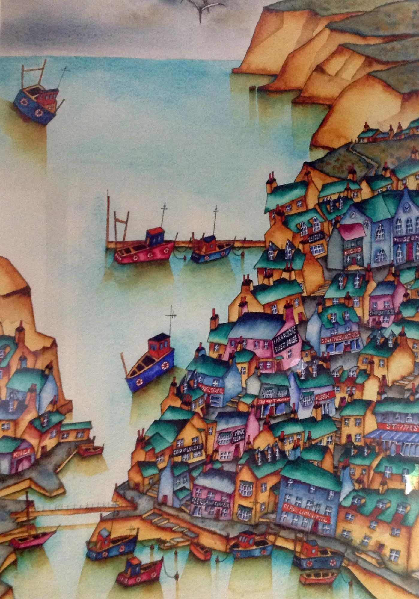 artist village, seaside, atmospheric, tumbling cottages, snickets, ginnels, alleyways, fishing boats