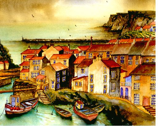 Storm over Staithes