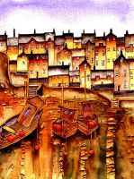 Colourful Whitby Yorkshire