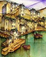 cornish fishing village, tumbling cottages, ginnels, alleyways, snickets, harbour,