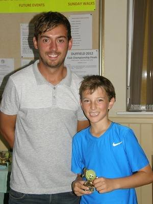 2012 U-12 Singles winner Rhodri Waters