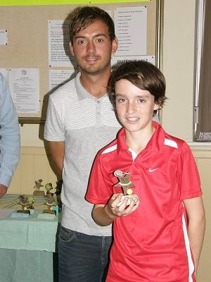 2012 Under-14s Singles runner-up Finn Johnston