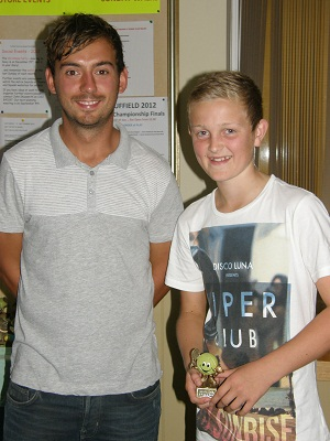 2012 Under-14s Singles winner Oli Storr