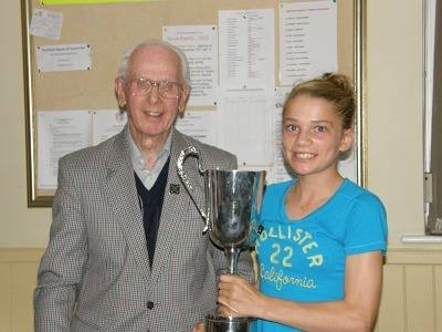 2012 Ladies singles winner Hannah Davey