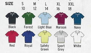 Womens polo shirt colours