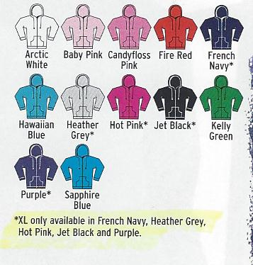Women's Zoodie colours