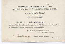 Old membership card