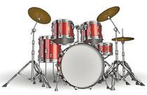 Red drumkit
