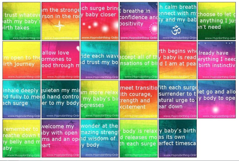 hypnobirthing affirmations online