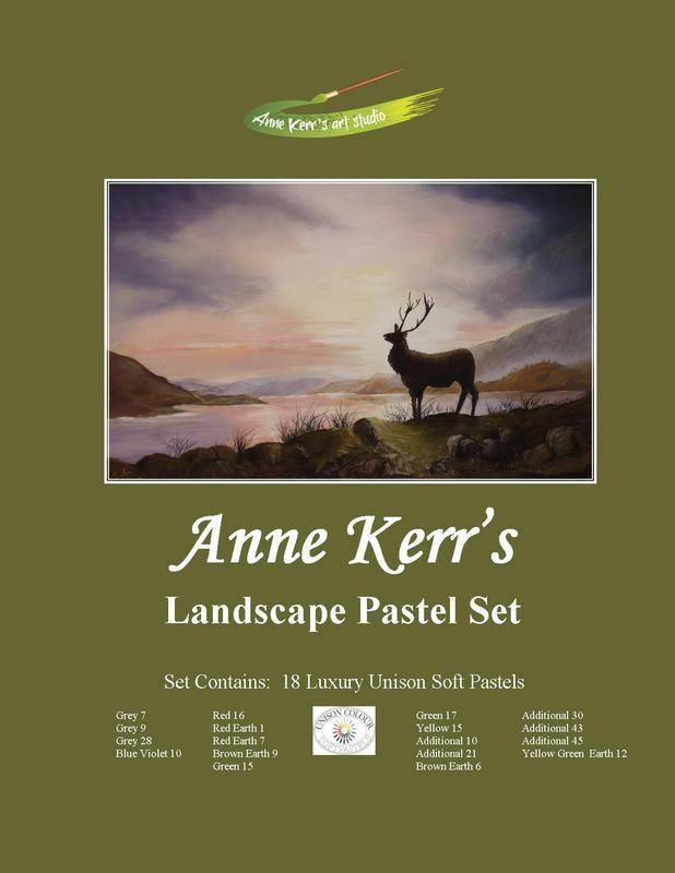 Landscape pastel set box