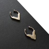 Set of 2 Sterling silver Faux Septum Rings