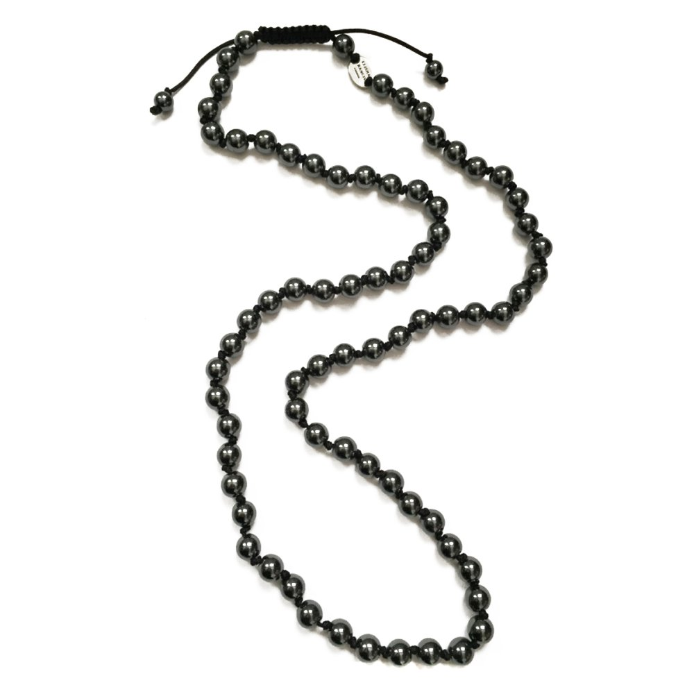 Hematite Knotted Necklace
