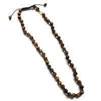 Tiger Eye Knotted Necklace