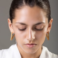 Gold Victory Earrings